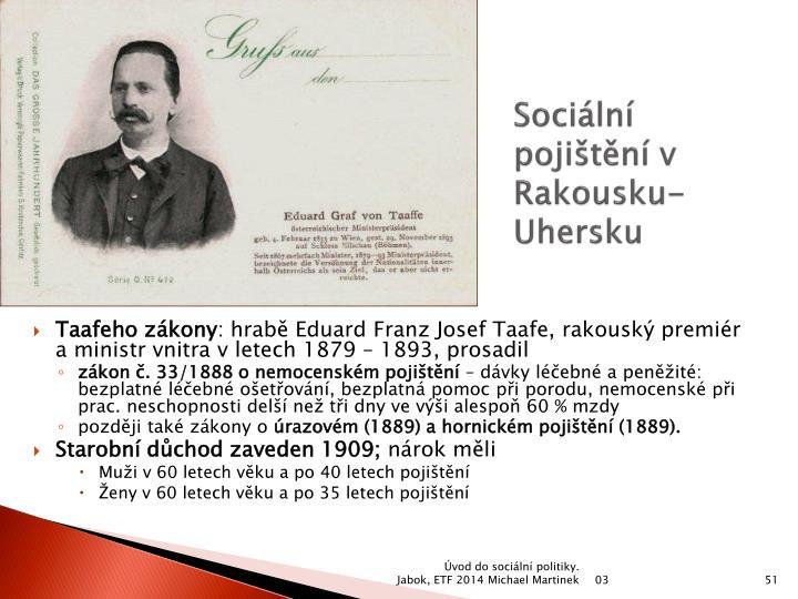 Sociální pojištění v