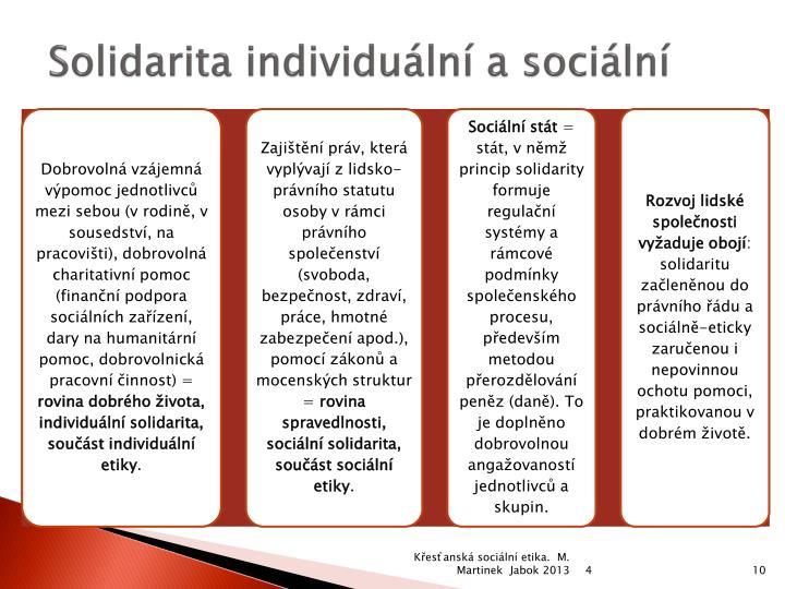 Solidarita individuální a sociální