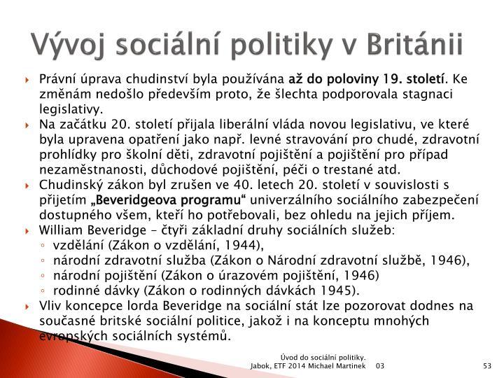 Vývoj sociální politiky v Británii
