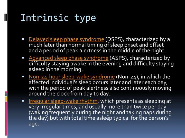 Intrinsic type