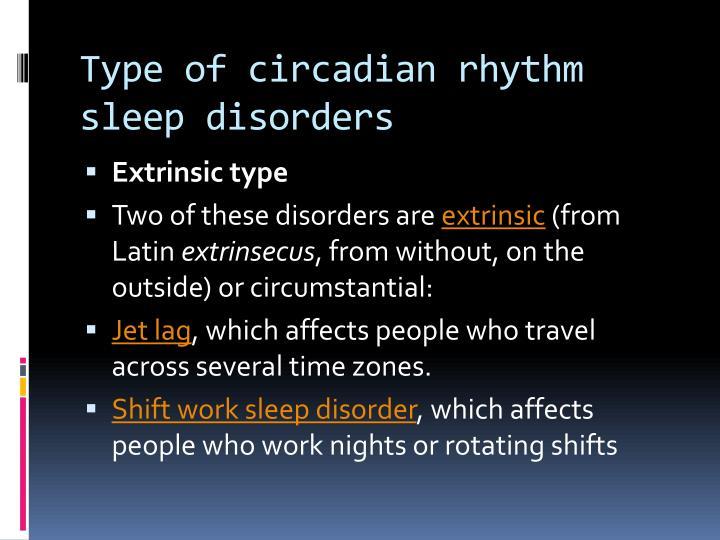 Type of circadian