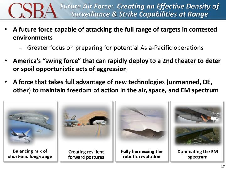Future Air Force:  Creating an Effective Density of Surveillance & Strike Capabilities at Range