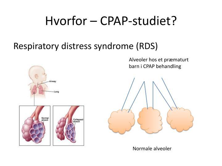 Hvorfor – CPAP-studiet?