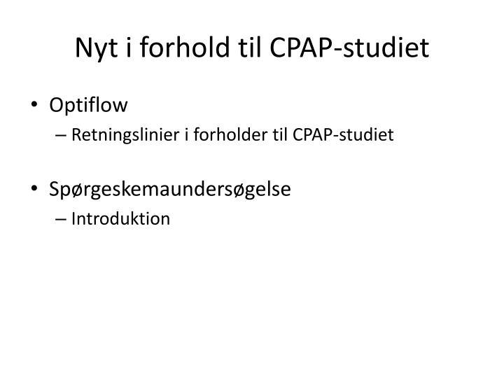Nyt i forhold til CPAP-studiet