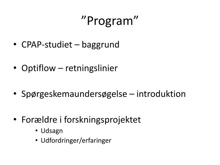 """Program"""