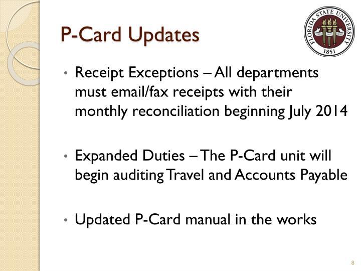 P-Card Updates