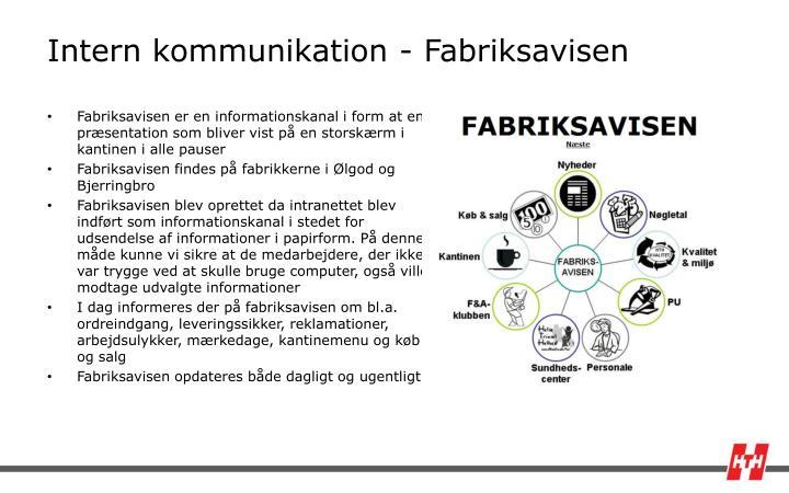 Intern kommunikation - Fabriksavisen