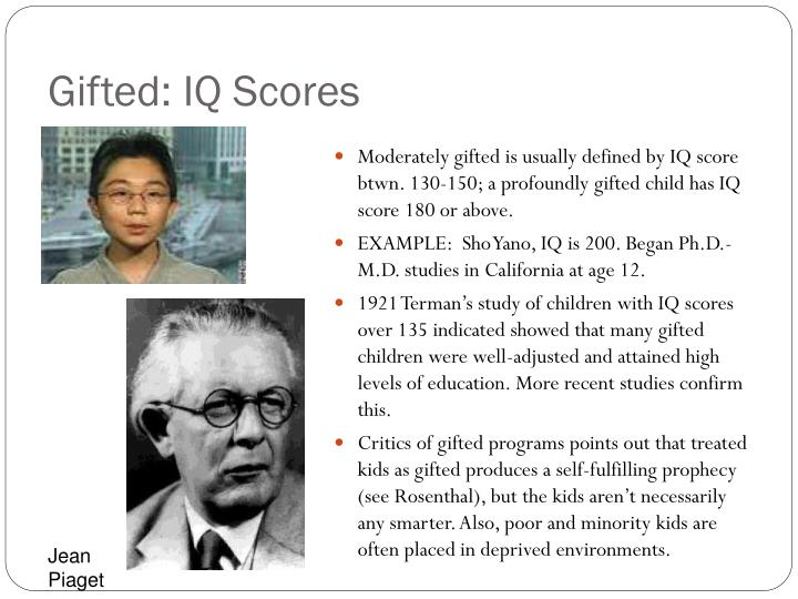 Gifted: IQ Scores