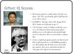 gifted iq scores
