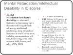 mental retardation intellectual disability in iq scores
