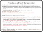 principles of test construction