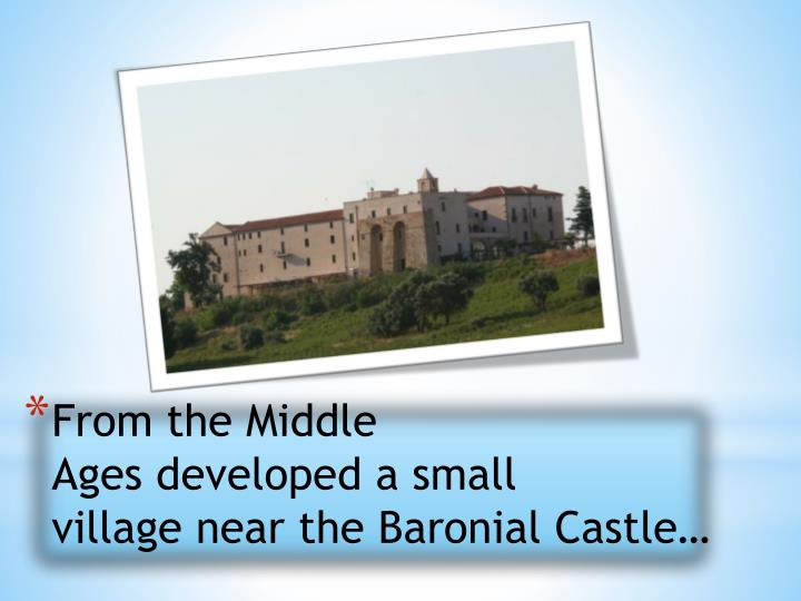 From the Middle Ages developed a small village near the Baronial
