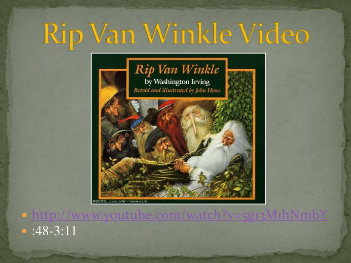 Rip van winkle video