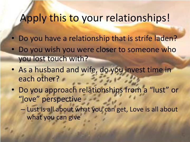 Apply this to your relationships!