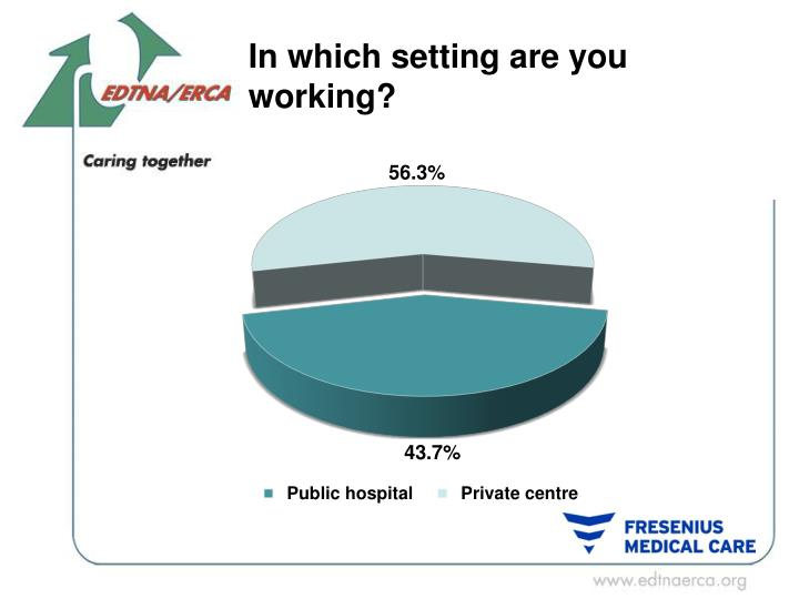 In which setting are you working?