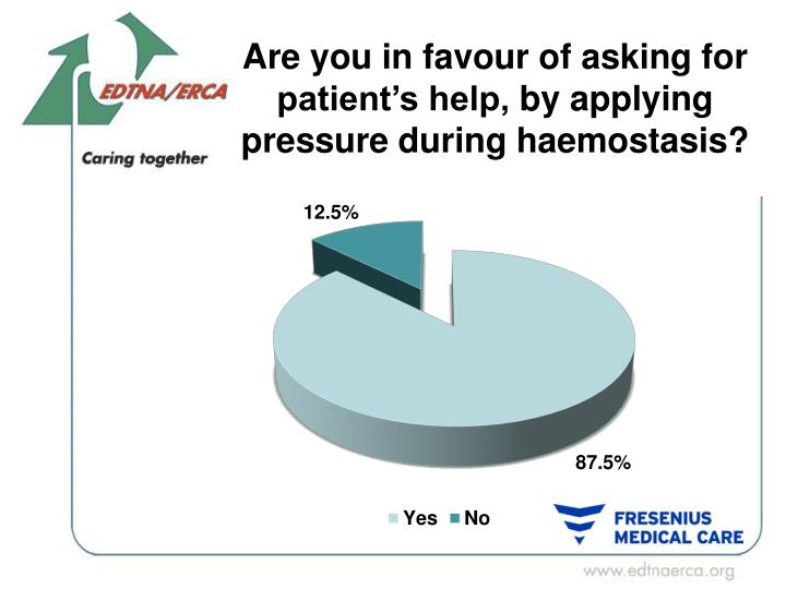 Are you in favour of asking for patient's help,