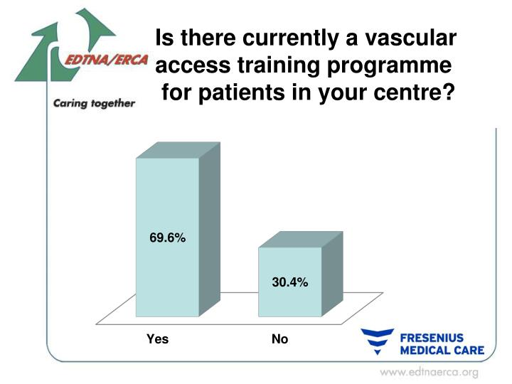 Is there currently a vascular access training