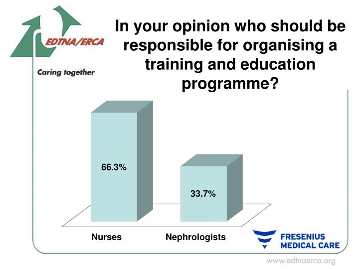 In your opinion who should be responsible for organising a