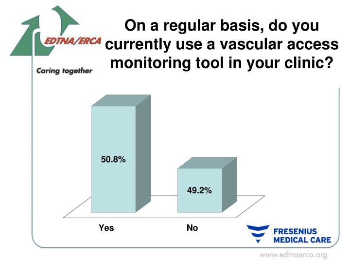 On a regular basis, do you currently use a vascular access