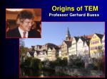 origins of tem1