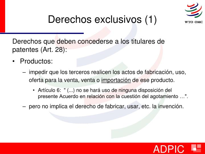 Derechos exclusivos (1)