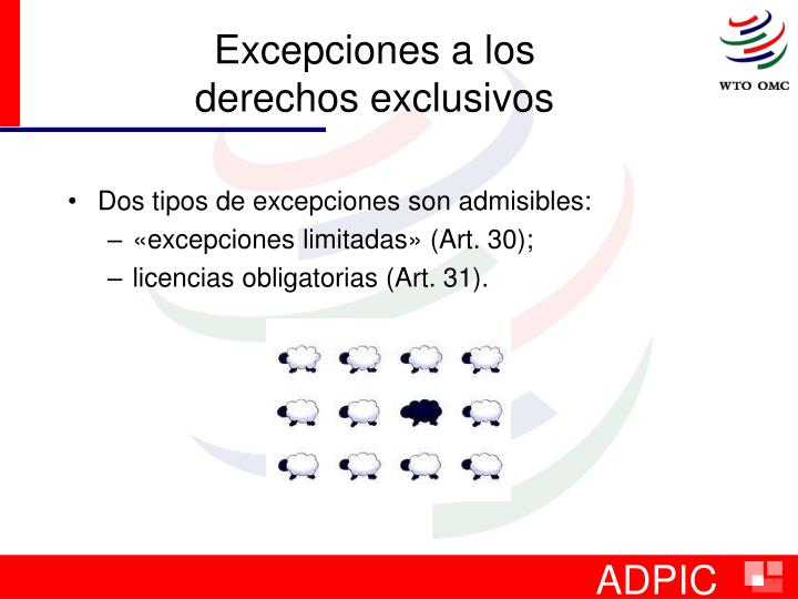 Excepciones a los