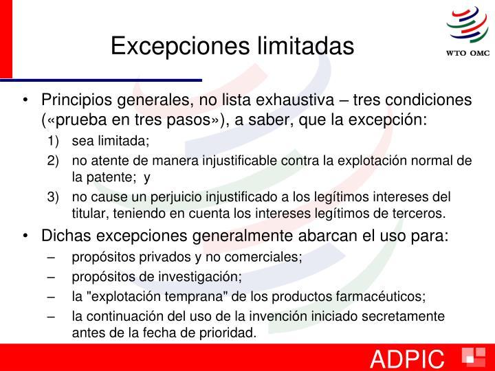 Excepciones limitadas