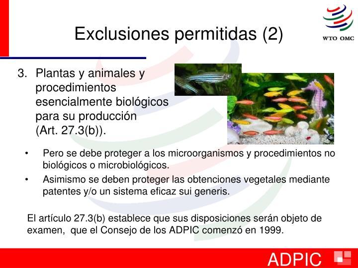 Exclusiones permitidas (2)