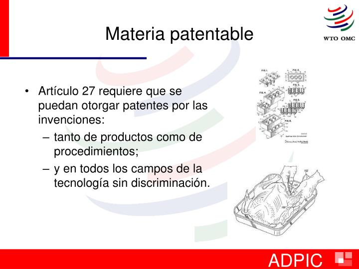 Materia patentable