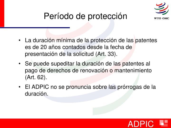 Período de protección