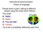 intercultural communication power of language