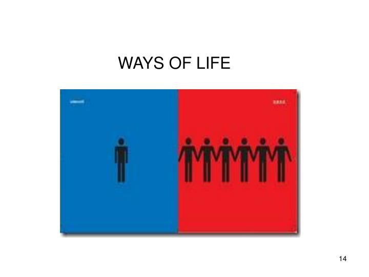 WAYS OF LIFE