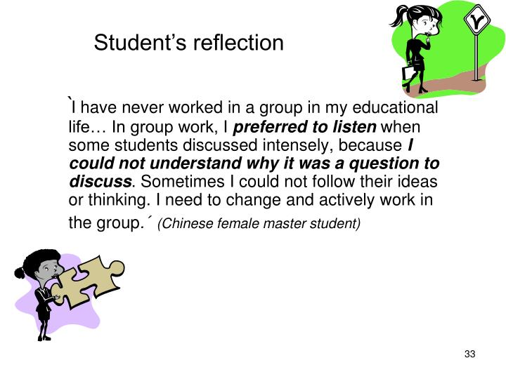 Student's reflection