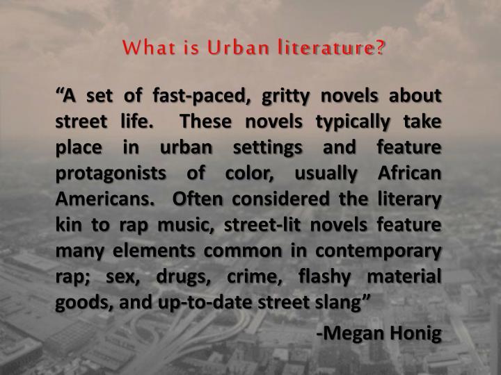 What is Urban literature?