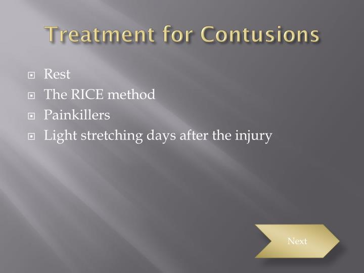 Treatment for Contusions
