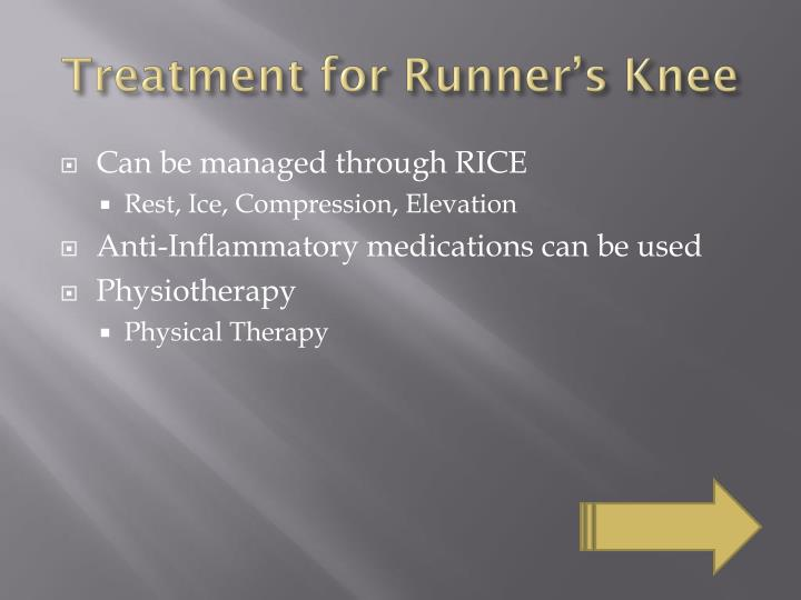Treatment for Runner's Knee