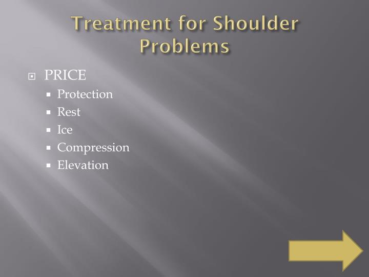Treatment for Shoulder Problems