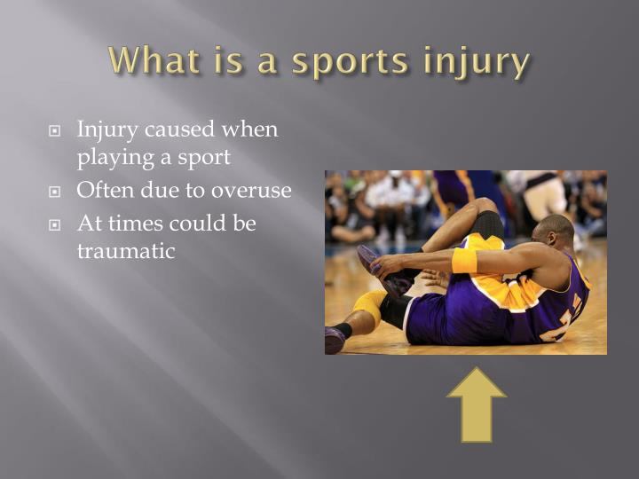 What is a sports injury