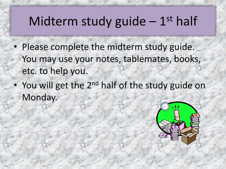 Midterm study guide – 1