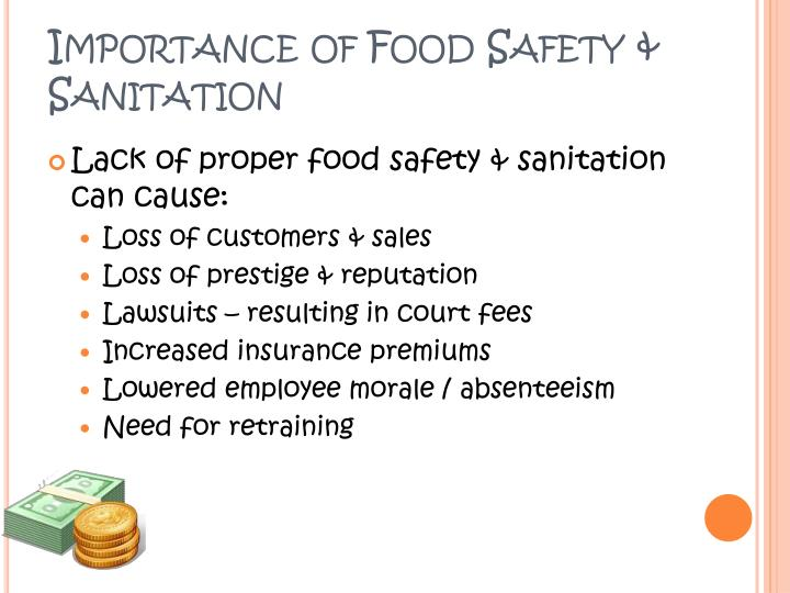 Importance of Food Safety & Sanitation