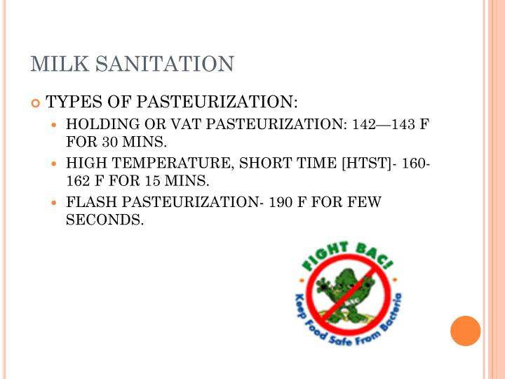 MILK SANITATION