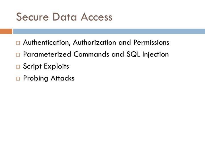 Secure Data Access