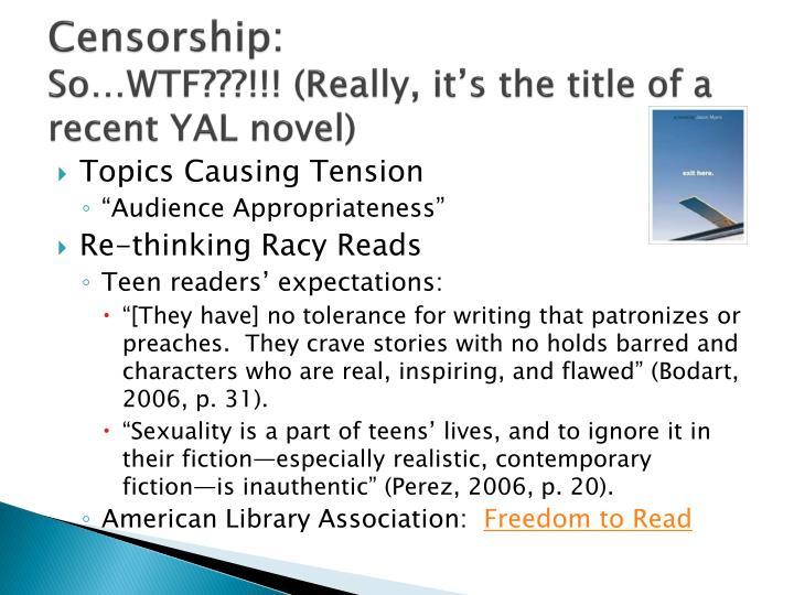 Censorship: