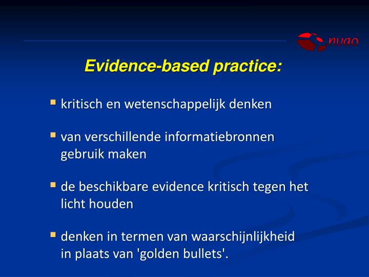 Evidence-based practice: