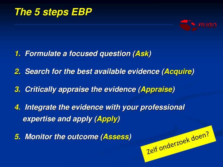 The 5 steps EBP