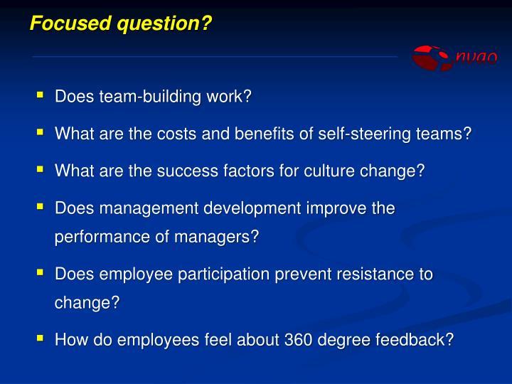 Focused question?