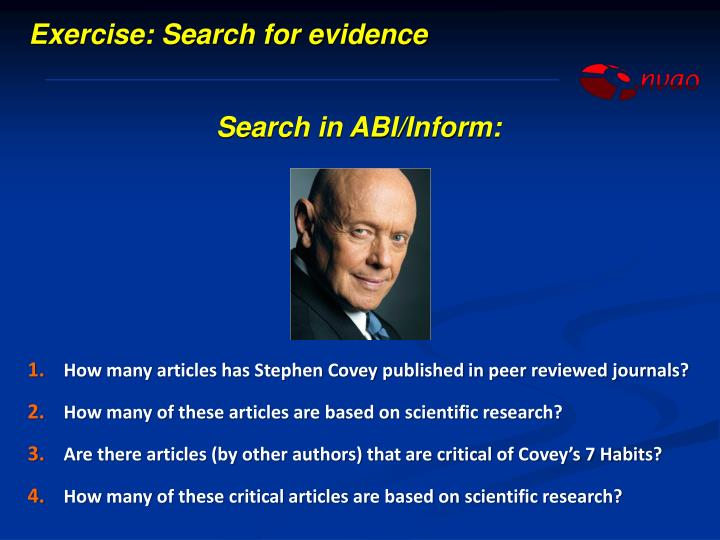 Exercise: Search for evidence