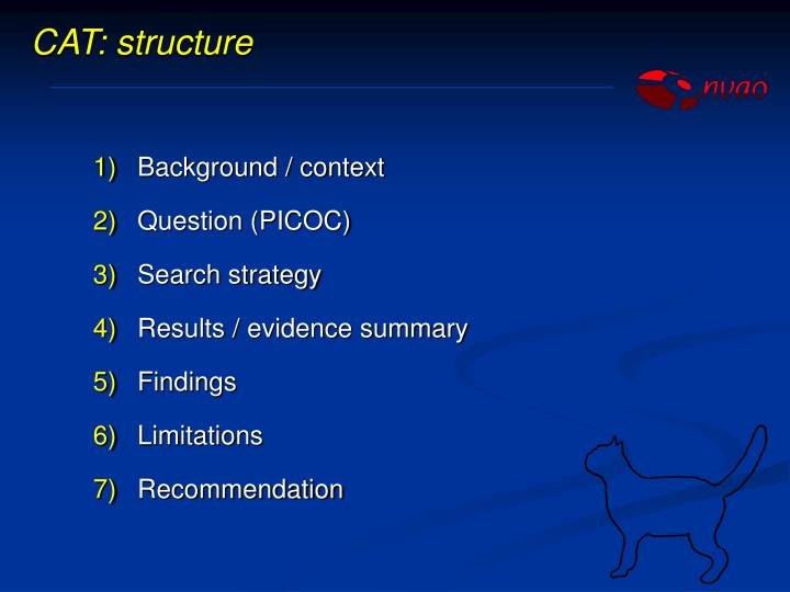 CAT: structure