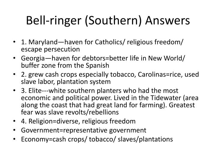 Bell ringer southern answers