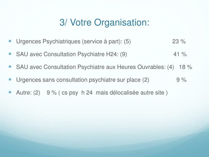 3/ Votre Organisation: